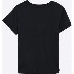 Adidas Originals - T-shirt dziecięcy 128-164 cm. Czarne t-shirty chłopięce z nadrukiem adidas Originals, z bawełny, z okrągłym kołnierzem. W wyprzedaży za 79,90 zł.