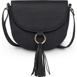 Torebka na ramię  z chwostem bonprix czarny - złoty kolor. Czarne torebki klasyczne damskie bonprix. Za 49,99 zł.