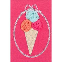 Mayoral - Top dziecięcy 68-98 cm. Różowe bluzki dziewczęce Mayoral, z aplikacjami, z bawełny, z okrągłym kołnierzem, z krótkim rękawem. Za 64,90 zł.