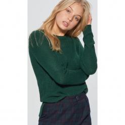 Sweter basic - Khaki. Brązowe swetry klasyczne damskie marki Cropp, l. Za 49,99 zł.
