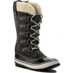 Śniegowce SOREL - Joan Of Arctic Shearling NL2393 Dark Grey/Black 089. Szare buty zimowe damskie Sorel, z gumy, na niskim obcasie. W wyprzedaży za 449,00 zł.