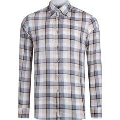 Koszule męskie na spinki: Koszula CONTE OF FLORENCE OREGON CHECK Beżowy|Print|Szary