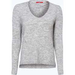 Swetry klasyczne damskie: s.Oliver Casual – Sweter damski z dodatkiem alpaki, szary