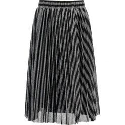 Spódniczki trapezowe: Navy London DONNA Spódnica trapezowa black/silver