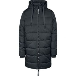 Urban Classics Hooded Puffer Coat Płaszcz czarny. Niebieskie płaszcze na zamek męskie marki Urban Classics, l, z okrągłym kołnierzem. Za 489,90 zł.