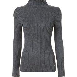Sweter w kolorze szarym. Szare swetry klasyczne damskie marki Tramontana, l, prążkowane, ze stójką. W wyprzedaży za 151,95 zł.