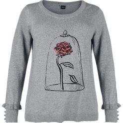 Swetry rozpinane damskie: Piękna i Bestia Rose Sweter damski odcienie szarego