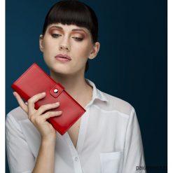 Portfel skórzany CZERWONY. Czerwone portfele damskie Pakamera, ze skóry. Za 299,00 zł.