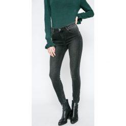 Review - Jeansy. Szare jeansy damskie rurki marki Review, l, z tkaniny, z okrągłym kołnierzem. W wyprzedaży za 99,90 zł.