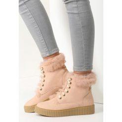 Buty zimowe damskie: Różowe Śniegowce Rising Sun