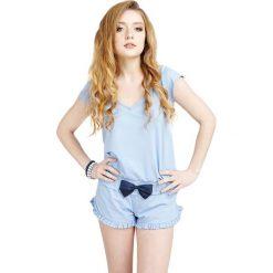 Piżamy damskie: Piżama w kolorze błękitnym