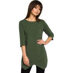 BECCA Tunika z zakładką - militarno zielona. Zielone tuniki damskie BE, na co dzień, l, z jeansu, klasyczne. Za 136,99 zł.
