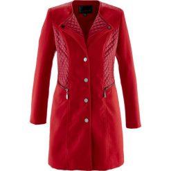 Płaszcze damskie pastelowe: Krótki płaszcz bonprix ciemnoczerwony