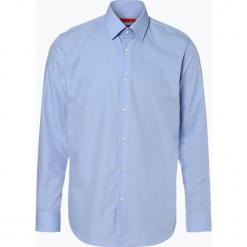 HUGO - Koszula męska łatwa w prasowaniu – C-Enzo, niebieski. Niebieskie koszule męskie na spinki marki HUGO, m, z bawełny. Za 329,95 zł.