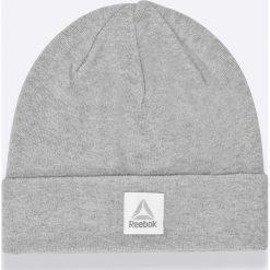 Reebok - Czapka. Szare czapki zimowe męskie Reebok, na zimę, z bawełny. W wyprzedaży za 59,90 zł.