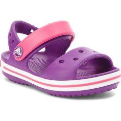 Sandały dziewczęce: Sandały CROCS – Crocband Sandal Kids 12856 Amethyst/Paradise Pink