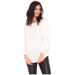 Swetry damskie: La Belle Parisienne Sweter Damski Caroline M Biały