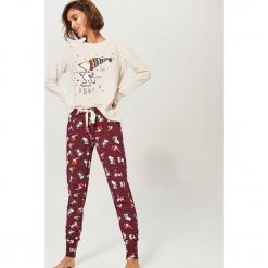 Dwuczęściowa piżama Snoopy - Kremowy. Białe piżamy damskie Reserved, l. Za 109,99 zł.