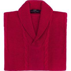 Sweter PAOLO WP 15-80CS. Czarne swetry klasyczne męskie marki Giacomo Conti, m, z bawełny, z klasycznym kołnierzykiem. Za 229,00 zł.