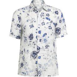 Koszule męskie na spinki: 120% Lino CAMICIA UOMO BOWLING FLORAL Koszula natural
