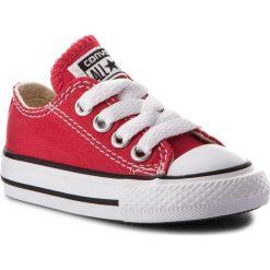 Trampki CONVERSE - Inf C/T A/S Ox 7J236C Red. Czerwone trampki chłopięce marki Converse, z gumy, na sznurówki. W wyprzedaży za 159,00 zł.