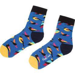 Skarpety Wysokie Unisex HAPPY SOCKS - BIR01-6000 Granatowy Kolorowy. Niebieskie skarpetki męskie Happy Socks, w kolorowe wzory, z bawełny. Za 34,90 zł.