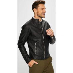Premium by Jack&Jones - Kurtka skórzana. Czarne kurtki męskie przejściowe marki Premium by Jack&Jones, l, z materiału. W wyprzedaży za 699,90 zł.