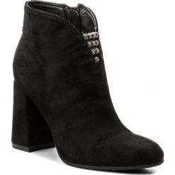 Botki JENNY FAIRY - WSG1160-1 Czarny. Czarne buty zimowe damskie marki Jenny Fairy, z materiału, na obcasie. Za 119,99 zł.
