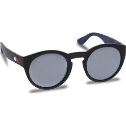 Okulary przeciwsłoneczne TOMMY HILFIGER - 1555/S Nero Blu D51. Czarne okulary przeciwsłoneczne damskie aviatory TOMMY HILFIGER. W wyprzedaży za 339,00 zł.