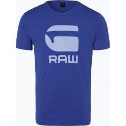 G-Star - T-shirt męski, niebieski. Niebieskie t-shirty męskie marki G-Star, m, z nadrukiem. Za 99,95 zł.