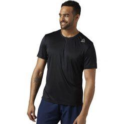 Reebok Koszulka męska Running czarna r. L (BR4450). Pomarańczowe koszulki sportowe męskie marki Reebok, z dzianiny, sportowe. Za 99,90 zł.