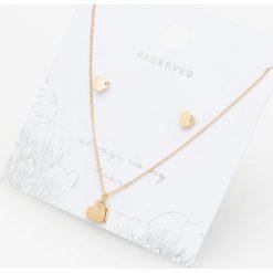 Naszyjniki damskie: Naszyjnik i kolczyki - Złoty