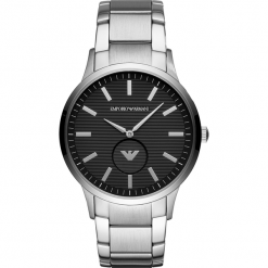 Zegarek EMPORIO ARMANI - Renato AR11118 Silver/Silver. Szare zegarki męskie Emporio Armani. Za 1009,00 zł.