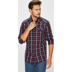 Wrangler - Koszula. Czarne koszule męskie na spinki Wrangler, m, w kratkę, z bawełny, z klasycznym kołnierzykiem, z długim rękawem. Za 219,90 zł.
