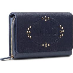 Portfele damskie: Duży Portfel Damski LIU JO – Portafoglio Soffieett N66110 E0027  Dress Blue/Blue A3170