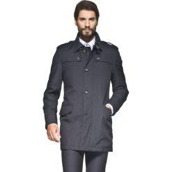 Płaszcze na zamek męskie: płaszcz alston czarny