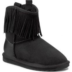 Buty EMU AUSTRALIA - Glaziers W11542 Black. Czarne kozaki damskie skórzane marki EMU Australia, na niskim obcasie. W wyprzedaży za 439,00 zł.