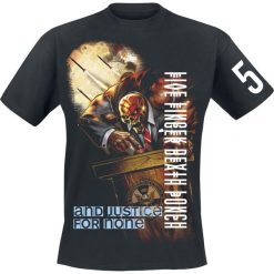 Five Finger Death Punch And justice for none T-Shirt czarny. Czarne t-shirty męskie z nadrukiem marki Caliban, s. Za 79,90 zł.