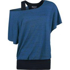 T-shirty damskie: Black Premium by EMP Ladies Slubyarn Double Layer Koszulka damska niebieski