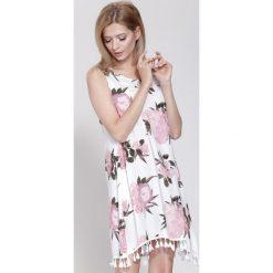 Sukienki: Biało-Różowa Sukienka Cockatoo