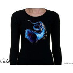 Błękitna trąbka - damska koszulka z rękawem. Niebieskie bluzki longsleeves marki Pakamera, z bawełny. Za 79,00 zł.