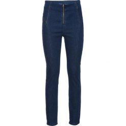 """Spodnie z wysokim stanem: Dżinsy SKINNY bonprix niebieski """"stone"""""""
