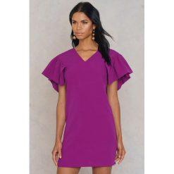 Sukienki: Trendyol Sukienka z szeroką falbanką – Purple