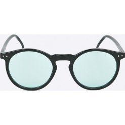 Selected - Okulary Sunday. Brązowe okulary przeciwsłoneczne męskie aviatory Selected, z materiału, okrągłe. W wyprzedaży za 99,90 zł.