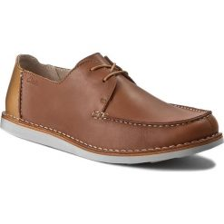 Derby męskie: Półbuty CLARKS - Brinton Edge 261139687 Tan Leather