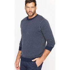 Kardigany męskie: Dwukolorowy żakardowy sweter
