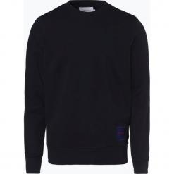 Calvin Klein - Męska bluza nierozpinana, niebieski. Niebieskie bluzy męskie Calvin Klein, l, z aplikacjami, z bawełny. Za 379,95 zł.