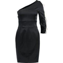 Sukienki hiszpanki: Karen Millen CROCODILE RUFFLE DRESS Sukienka koktajlowa black