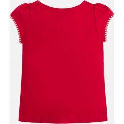 Mayoral - Top dziecięcy 98-134 cm. Czerwone topy damskie Mayoral, z nadrukiem, z bawełny, z dekoltem w łódkę, z krótkim rękawem. Za 84,90 zł.