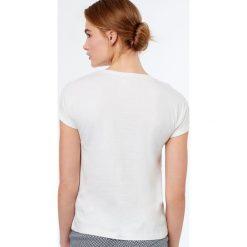 Etam - Top piżamowy Gypsie. Białe piżamy damskie marki MEDICINE, z bawełny. W wyprzedaży za 29,90 zł.